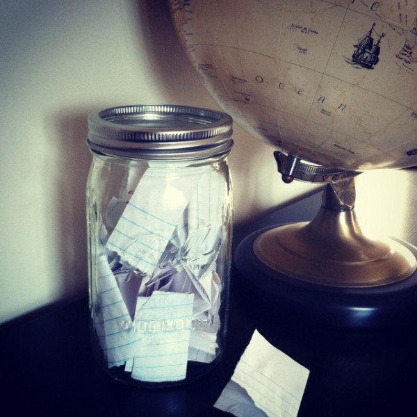 Thankfulness Jar by Rachel Schultz