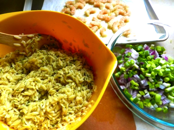 Roasted Shrimp & Orzo from Rachel Schultz