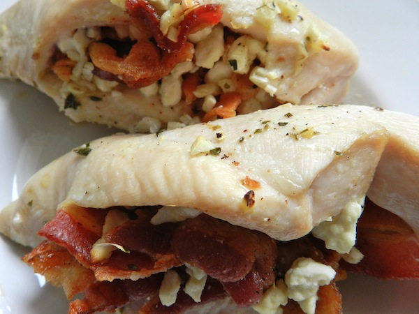 Feta & Bacon Stuffed Chicken from Rachel Schultz