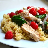 Raspberry Quinoa Stir Fry from Rachel Schultz