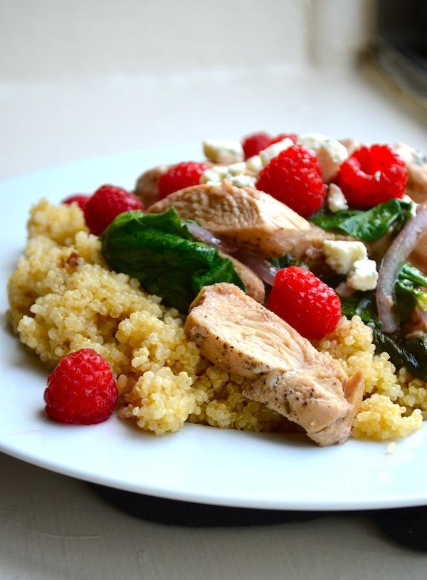 Raspberry Quinoa Stir Fry from Rachel Schultz