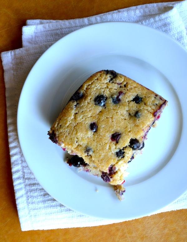 Blueberry & Buttermilk Healthy Breakfast Cake from Rachel Schultz