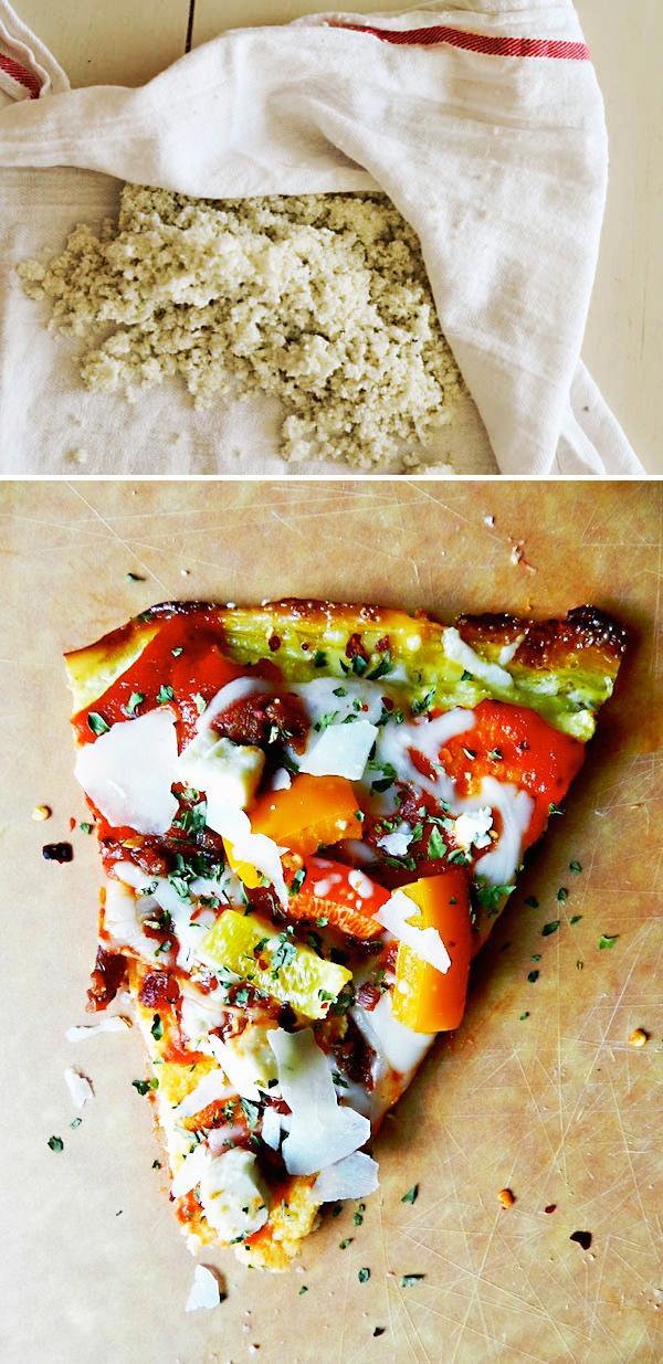 CAULIFLOWER PIZZA CRUST from Rachel Schultz