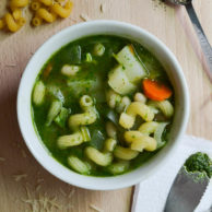 PESTO VEGETABLE SOUP from Rachel Schultz