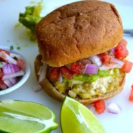 Tilapia Burgers and Watermelon Salsa from Rachel Schultz