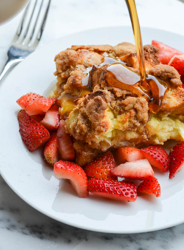 BAKED CINNAMON FRENCH TOAST from Rachel Schultz