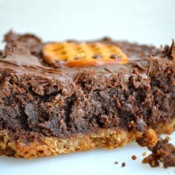 Nutella Pretzel Brownies from Rachel Schultz