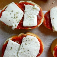 French Bread Pizzettes by Rachel Schultz