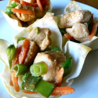 Chicken Wonton Cups by Rachel Schultz