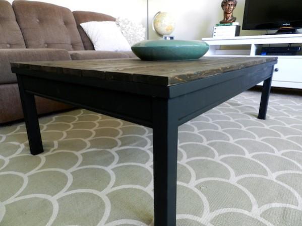 rachel schultz: rustic coffee table ikea hack