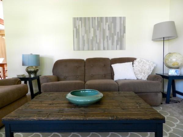 rustic coffee table diy by rachel schultz