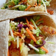 Hot & Crunchy Chicken Wraps with Mango Salsa by Rachel Schultz