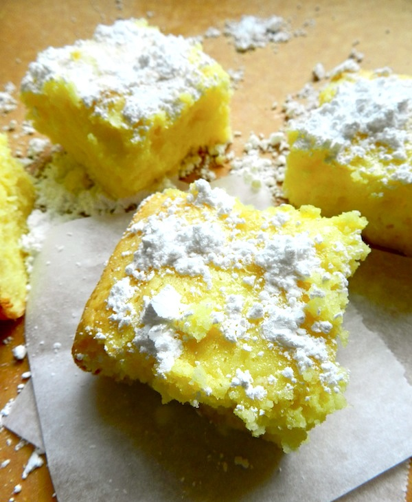Two Ingredient Lemon Bars from Rachel Schultz