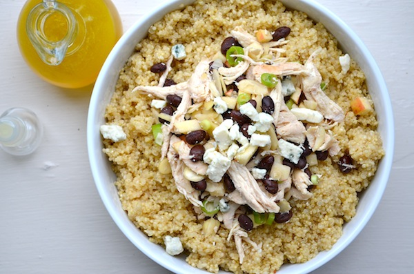 Apple & Gorgonzola Quinoa Salad from Rachel Schultz