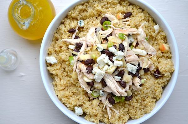Apple & Gorgonzola Quinoa Salad from Rachel Schultz