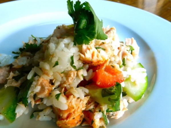 Salmon & Lime Rice Salad by Rachel Schultz