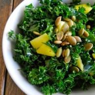 Massaged Kale & Mango Salad by Rachel Schultz