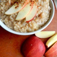 Spiced Apple Pie Oatmeal by Rachel Schultz