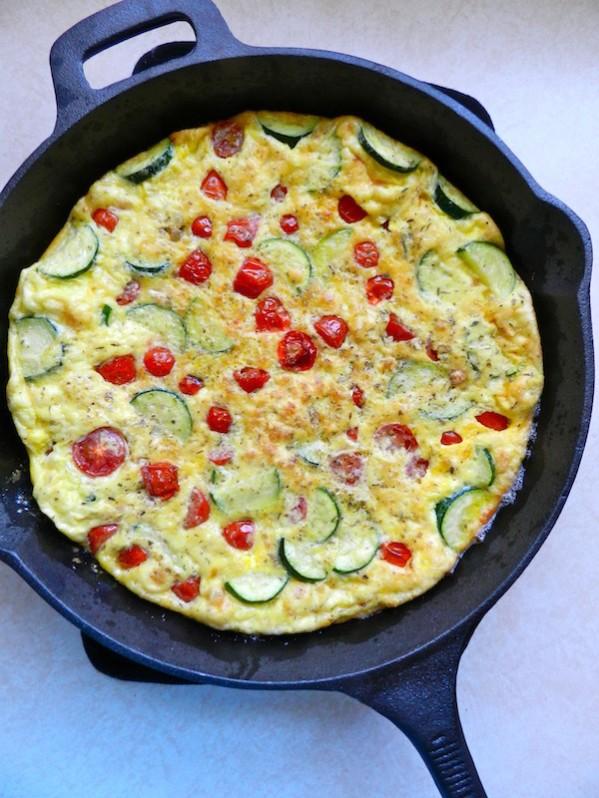Roasted Tomato & Zucchini Frittata by Rachel Schultz