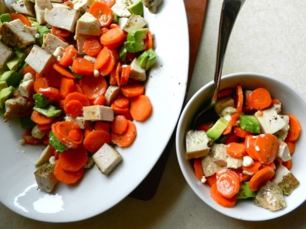 Roasted Carrot Salad with Citrus Cumin Dressing by Rachel Schultz