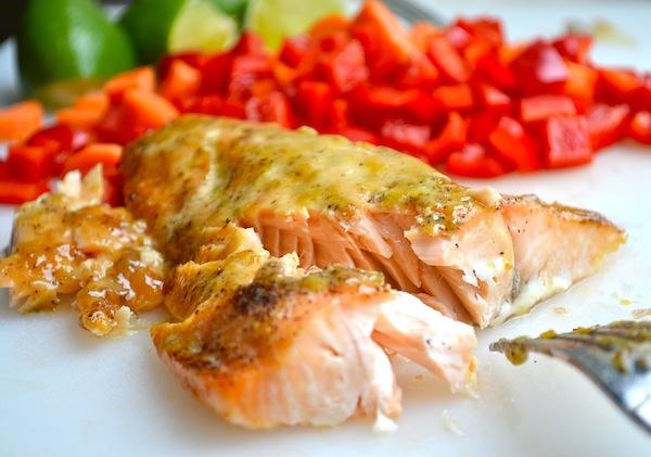 Salmon & Lime Rice Salad from Rachel Schultz