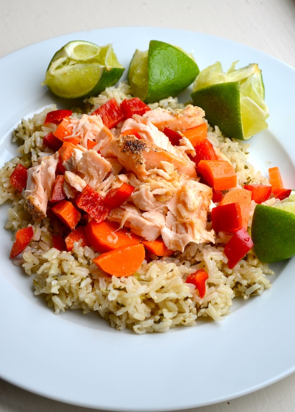 Salmon & Lime Rice Salad from Rachel Schultz