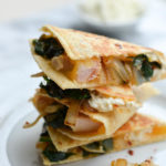 GOAT CHEESE QUESADILLAS