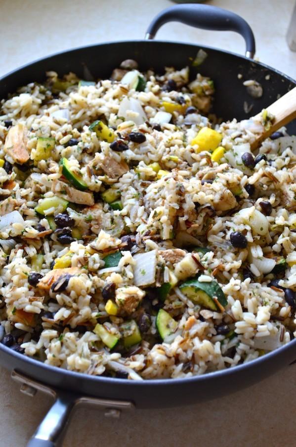 Chicken & Black Bean Smokey Rice Skillet by Rachel Schultz