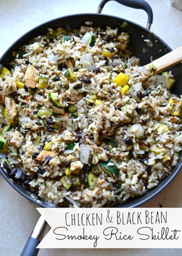 Rachel Schultz: CHICKEN & BLACK BEAN SMOKEY RICE SKILLET