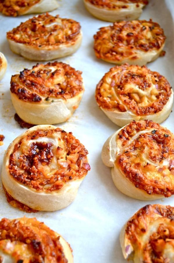 Rachel Schultz Bbq Chicken Pizza Pinwheels
