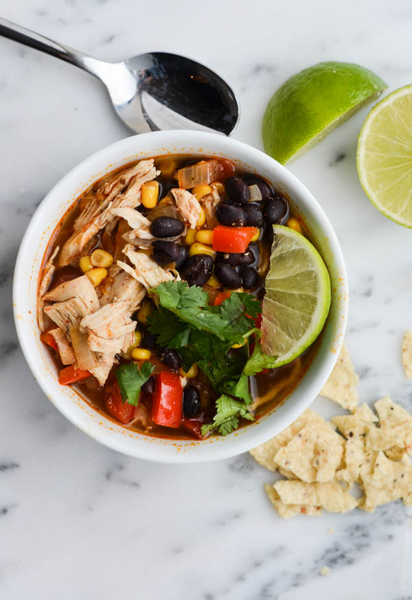 HEARTY CHICKEN TORTILLA SOUP from Rachel Schultz