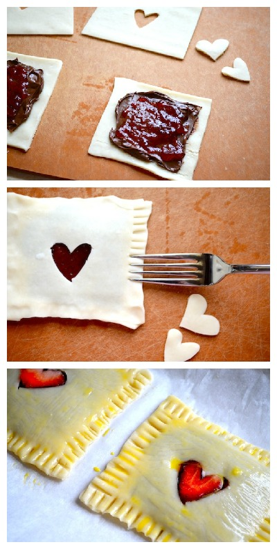 Strawberry & Nutella Homemade Pop-tarts by Rachel Schultz