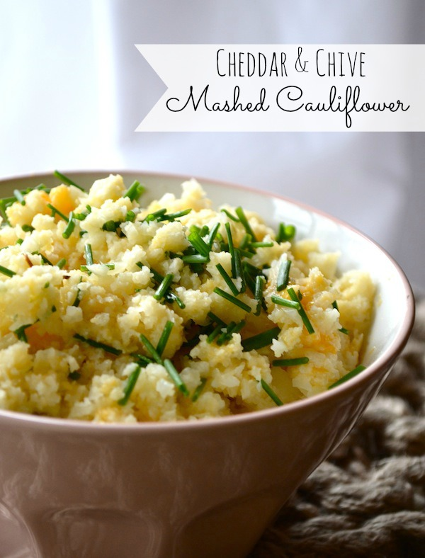 Cheddar Chive Mashed Cauliflower
