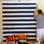 PAINTED NO-SEW STRIPED CURTAINS