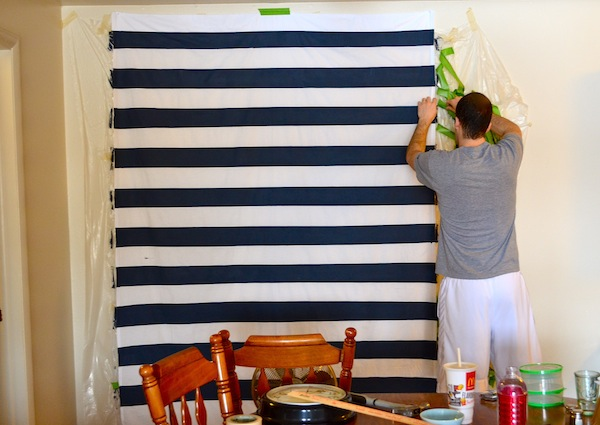 Painted No-Sew Curtains from Rachel Schultz