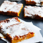 PUMPKIN CINNAMON ROLL SHEET CAKE