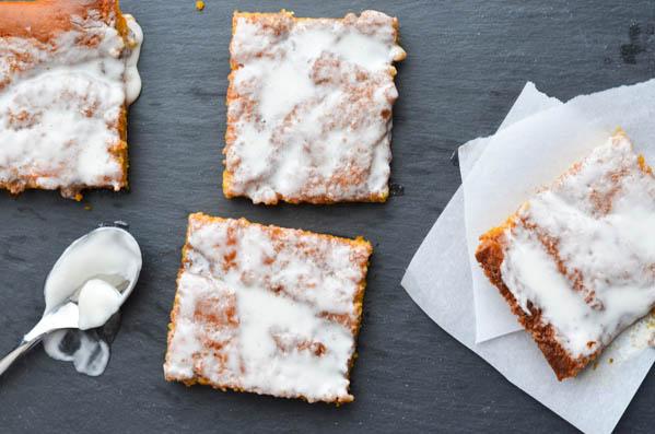 PUMPKIN CINNAMON ROLL SHEET CAKE from Rachel Schultz