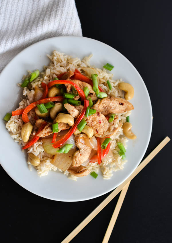 SLOW COOKER CASHEW CHICKEN from Rachel Schultz