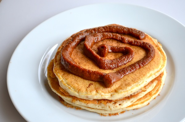 Healthy Cinnamon Roll Pancakes from Rachel Schultz
