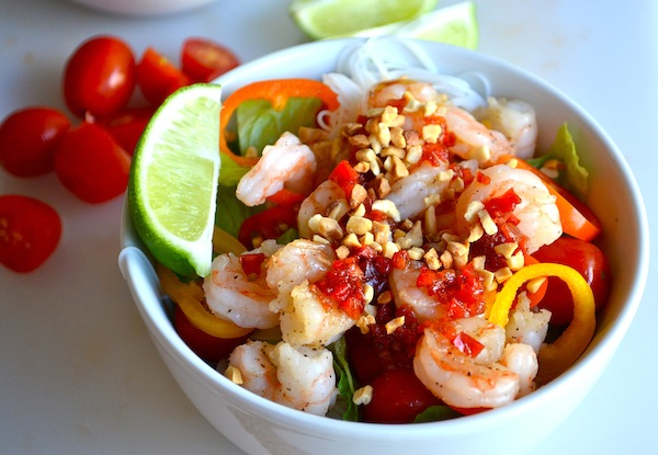 Thai Shrimp Salad, a Quick Healthy Portioned Meal - Lulibuzz