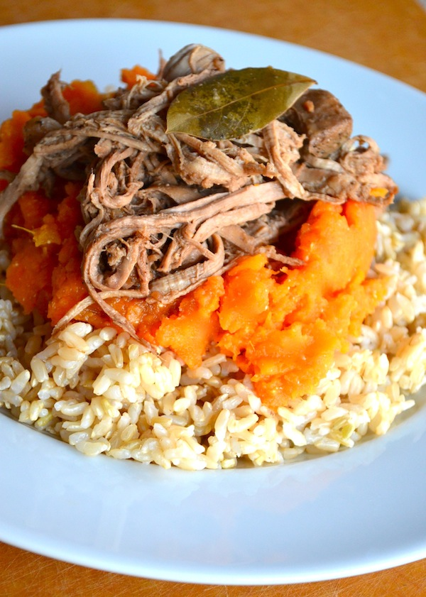 Filipino Pulled Pork & Mashed Sweet Potatoes from Rachel Schultz