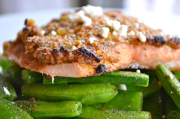 Grapefruit & Pistachio Crusted Salmon