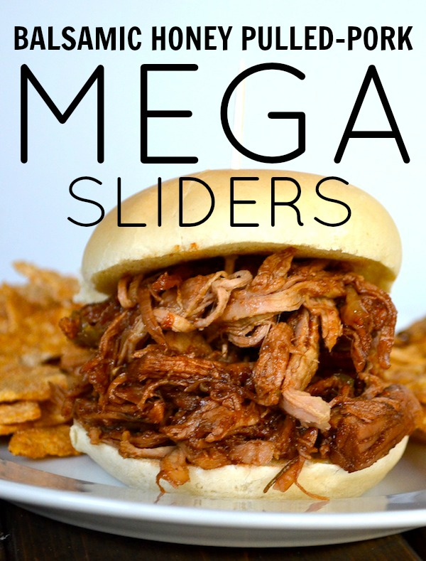Balsamic Honey Pulled-Pork Mega Sliders from Rachel Schultz
