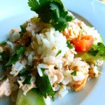 salmon & lime rice salad