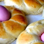 slightly sweet braided easter bread