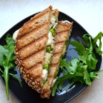 chicken pesto panini with asparagus