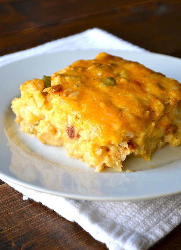 Loaded Cauliflower & Chicken Casserole from Rachel Schultz