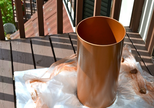 Refurbishing a Hammered Copper Trash Can from Rachel Schultz