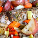 CAJUN ROASTED PORK LOIN & VEGETABLES