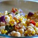 chickpea & roasted vegetable salad